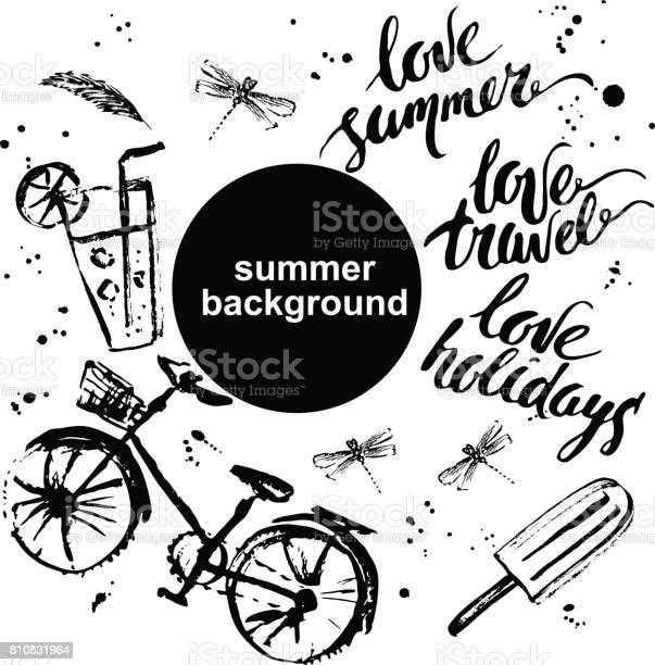 Hand drawn summer background design with lettering vector id810831964?b=1&k=6&m=810831964&s=612x612&h=grxbvqsxryysmahjdthx9p3wysw ju5yxeoy yloqz0=