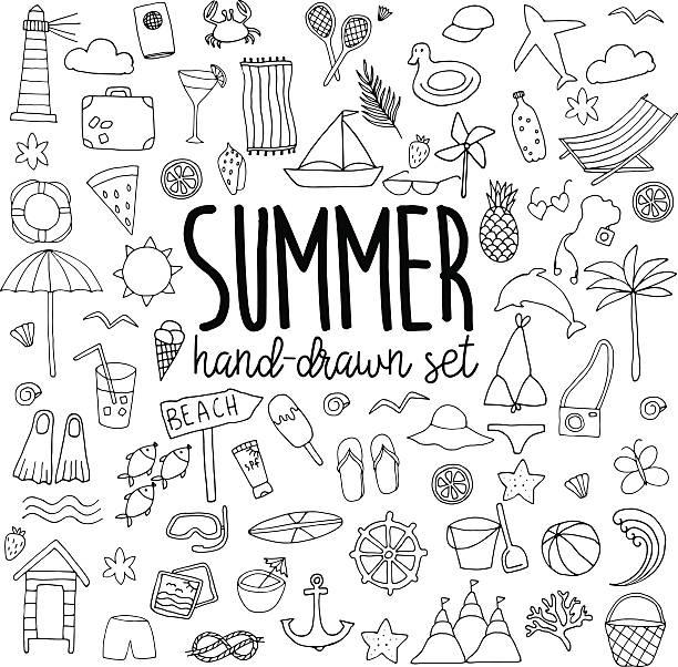 手描きのサマーセット - 夏点のイラスト素材/クリップアート素材/マンガ素材/アイコン素材