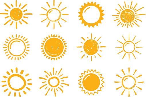 Hand Drawn Suns