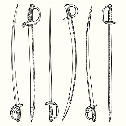 Hand Drawn Sword Vectors