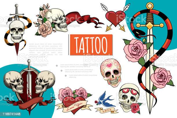 Hand drawn tattoo elements composition vector id1169741448?b=1&k=6&m=1169741448&s=612x612&h=2shhvi6bmh3dr34qwp54ldlha f6mpjmm9mjf pfx3y=