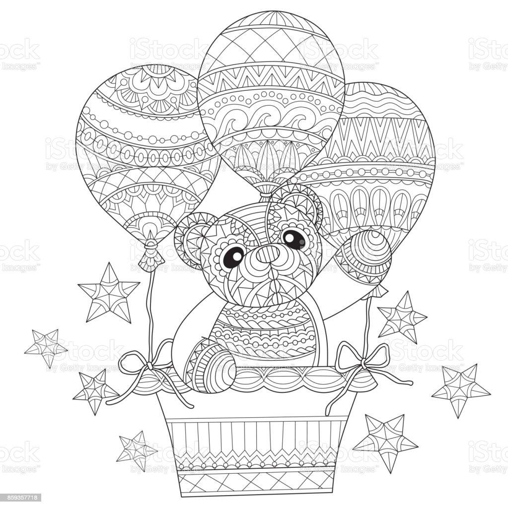 Handgezeichnete Teddybär In Der Sprechblase Für Erwachsene ...