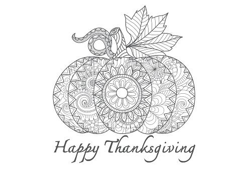 Hand drawn thanksgiving pumpkin