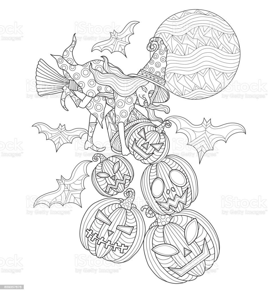 Free Halloween Cat Coloring Pages, Download Free Clip Art, Free ... | 1024x940