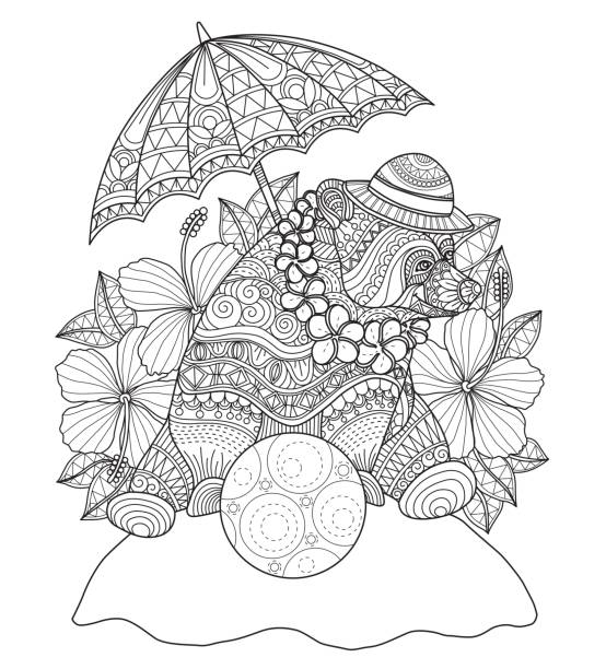 Best Umbrella Coloring Page Illustrations, Royalty-Free ...