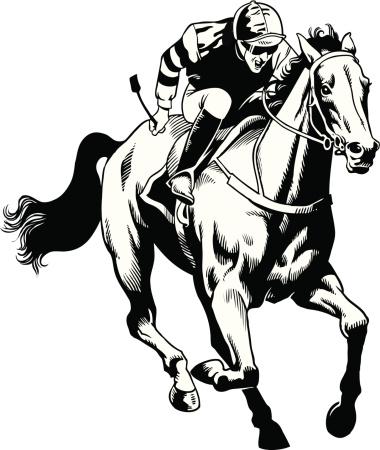 Hand Drawn Thoroughbred Horse