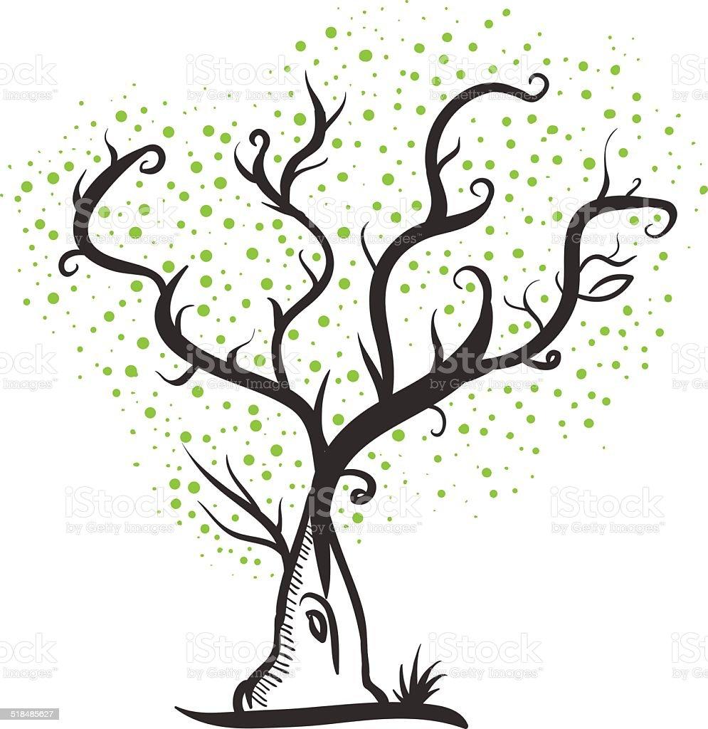Ilustración De árbol Dibujo A Mano Y Más Banco De Imágenes De Adulto