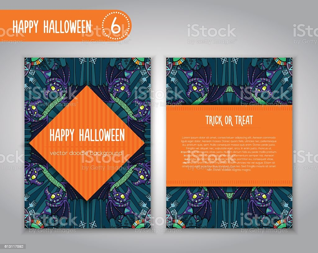 4b22dc180 Hand drawn tribal bat in the forest for Happy Halloween. - Illustration .