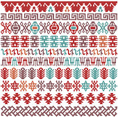 Colorful vector illustration. Hand drawn traditional pattern which can be widely used for fabrics, prints, covers, presentations, etc.