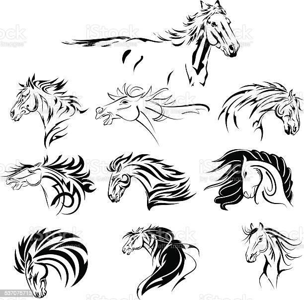 Hand drawn tribal horse set black vector id537075713?b=1&k=6&m=537075713&s=612x612&h=yvqft5r5stmeeimanjm468qoje8wqsvhl05wdba7l k=
