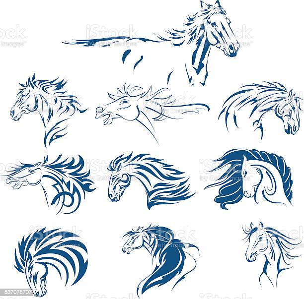 Hand drawn tribal horse set blue vector id537075707?b=1&k=6&m=537075707&s=612x612&h=7w2xiwco3htvath14fbmg1 cgyt vewggx8nzomsla8=