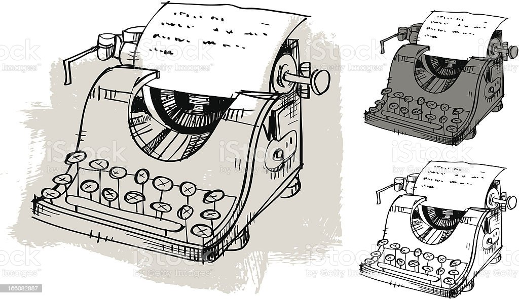 Hand Drawn Typewriter royalty-free hand drawn typewriter stock vector art & more images of ancient