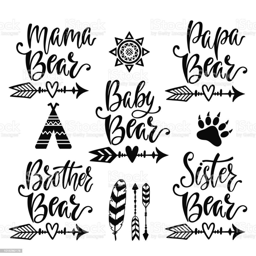 Hand drawn typography vector phrases vector art illustration