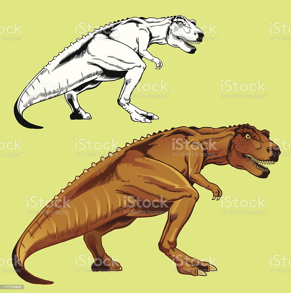 Hand Drawn Tyrannosaur Rex royalty-free hand drawn tyrannosaur rex stock vector art & more images of ancient