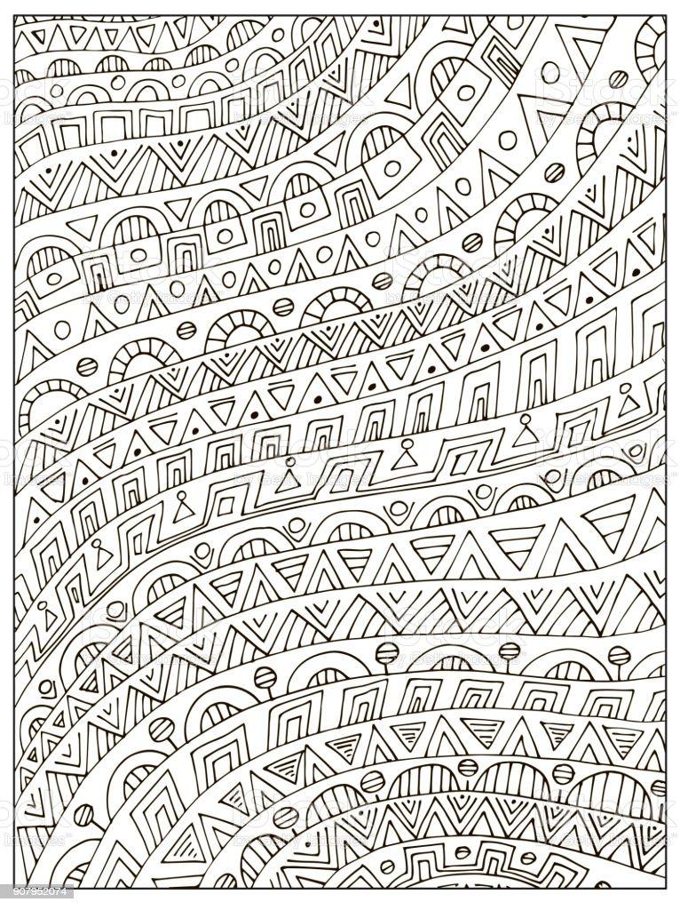 Ilustración de Mano Dibujada Incoloro Geométrico Adulto Para ...