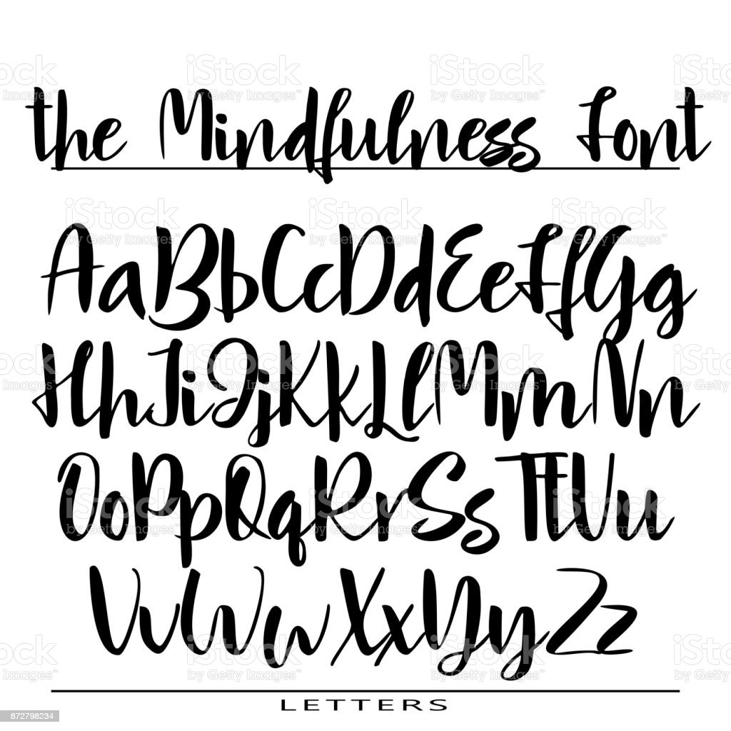 Hand drawn vector alphabet calligraphy letters for your