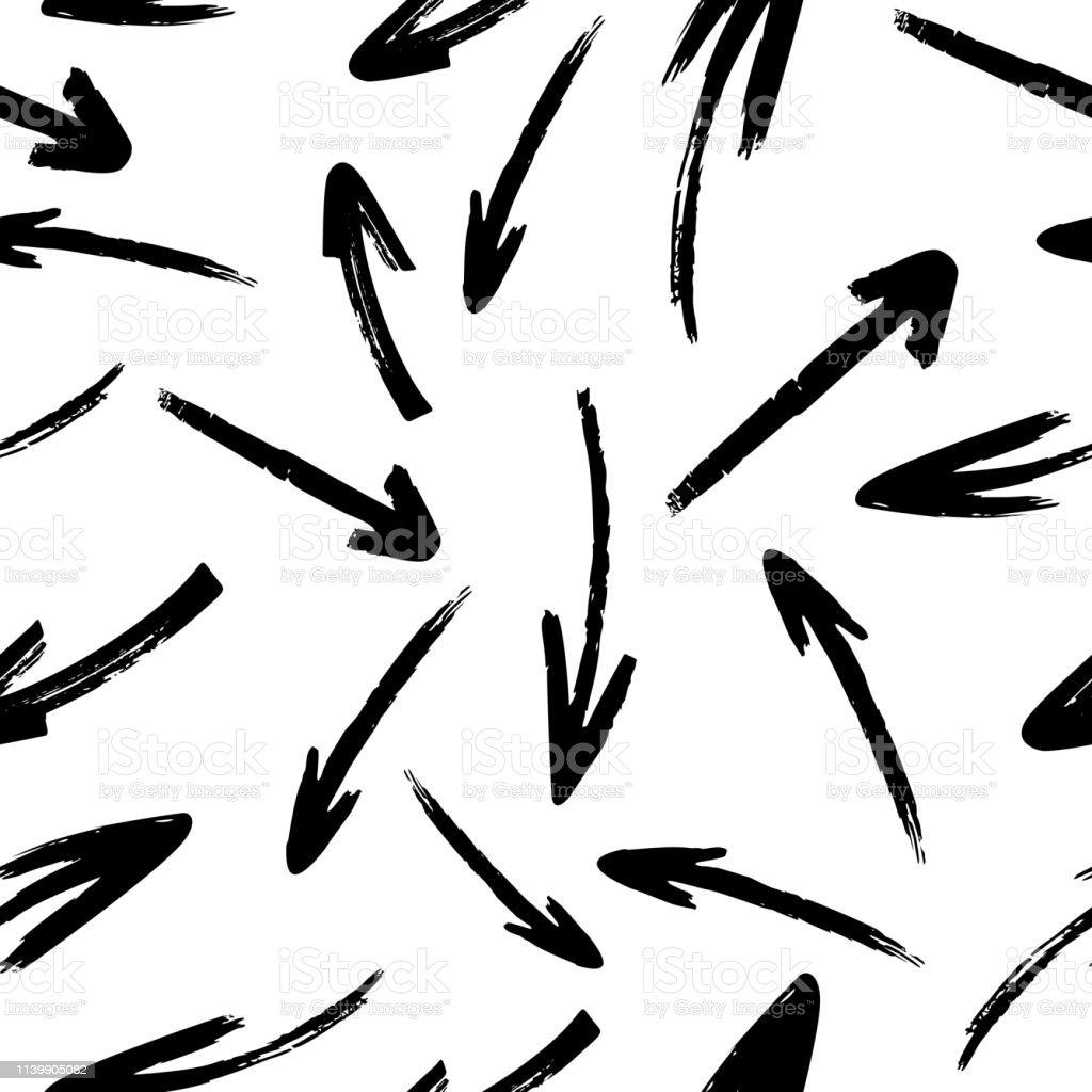 Motif sans soudure de flèches vectorielles dessinés à la main motif sans soudure de flèches vectorielles dessinés à la main vecteurs libres de droits et plus d'images vectorielles de abstrait libre de droits