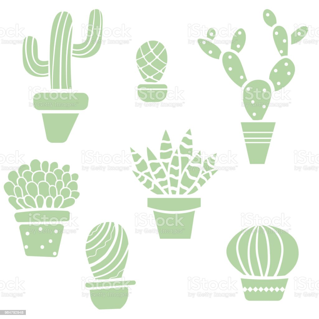 Hand drawn vector cactus set royalty-free hand drawn vector cactus set stock vector art & more images of art