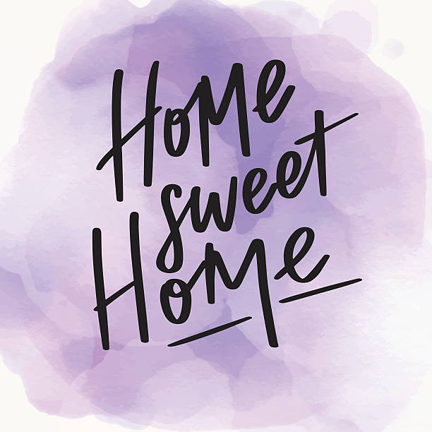 royalty free home sweet home sign clip art vector images illustrations istock. Black Bedroom Furniture Sets. Home Design Ideas