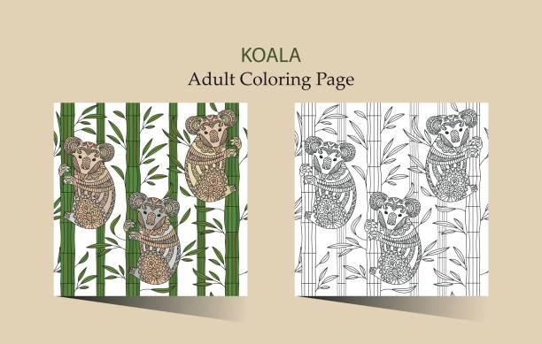 Ilustración de Mano Dibujado Vector Página Para Colorear Para ...