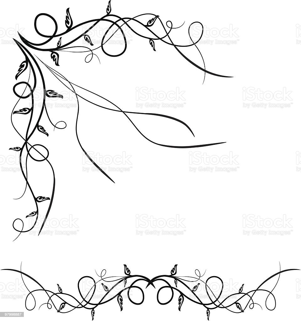 Hand drawn vector corner and divider royalty-free hand drawn vector corner and divider stock vector art & more images of angle