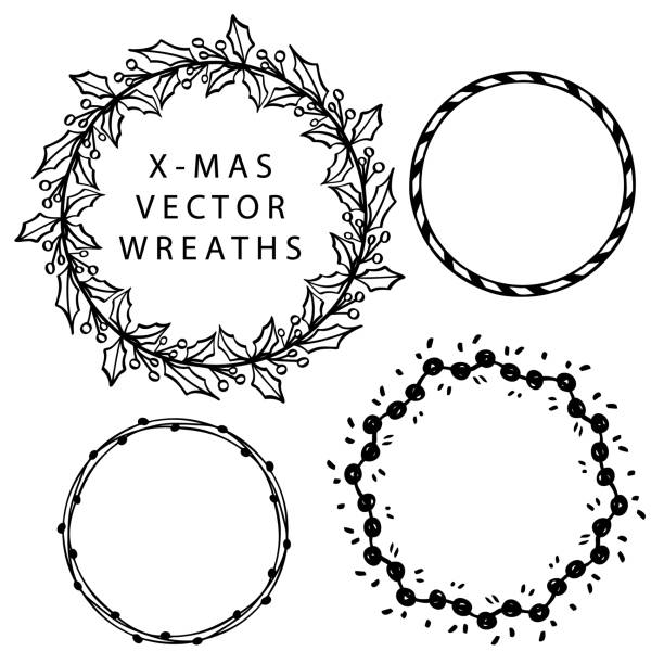 Best Black And White Christmas Borders Illustrations, Royalty-Free Vector Graphics & Clip Art ...