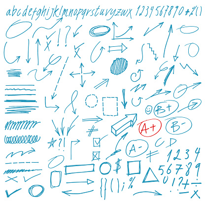 Hand Drawn Vector Doodles Arrows and Design Elements Collection.