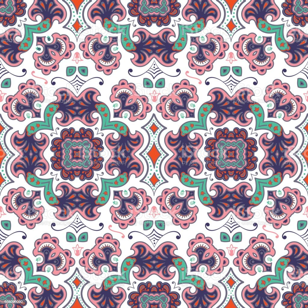 Hand drawn vector ethnic ornamental seamless pattern royalty-free hand drawn vector ethnic ornamental seamless pattern stock vector art & more images of abstract