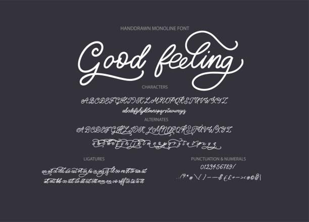 нарисованный вручную векторный шрифт. - алфавит stock illustrations