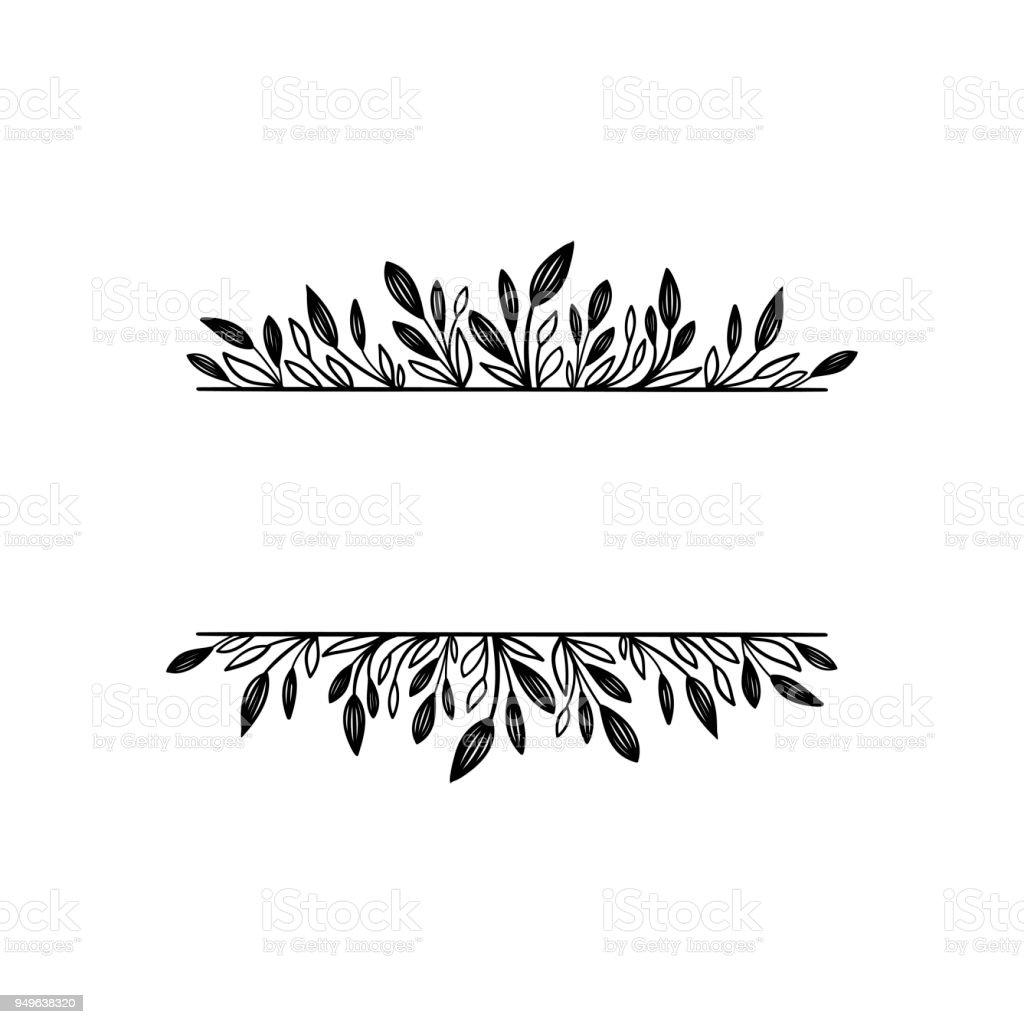 Floral Border For Your Text Decorative Elements Design