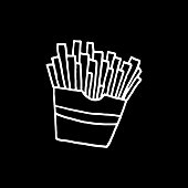 Hand Drawn Vector French Fries Drawing