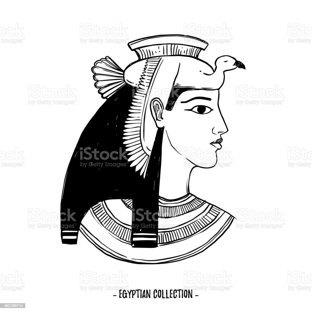 Hand drawn vector illustration egyptian collection the gods of hand drawn vector illustration egyptian collection the gods of ancient egypt goddess isis biocorpaavc