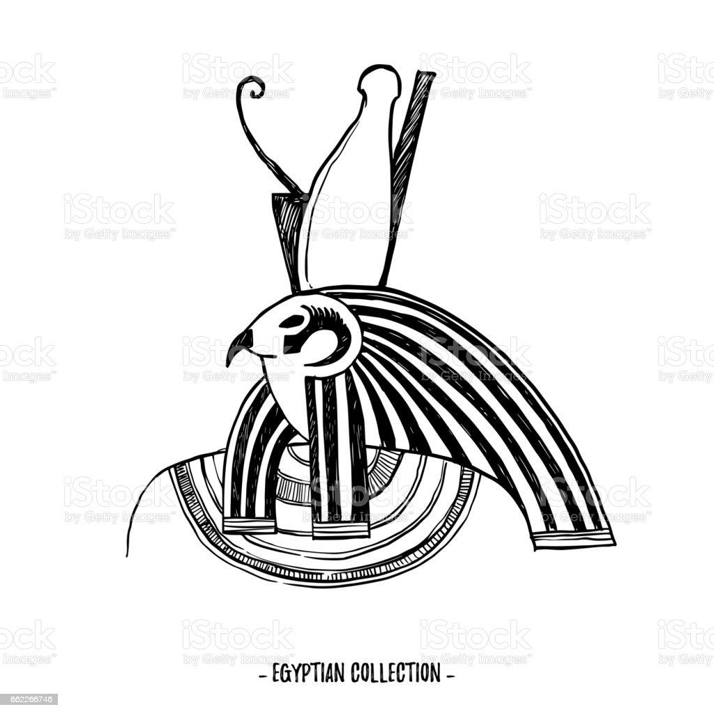 ilustração de mãoextraídas ilustração vetorial coleção egípcia os