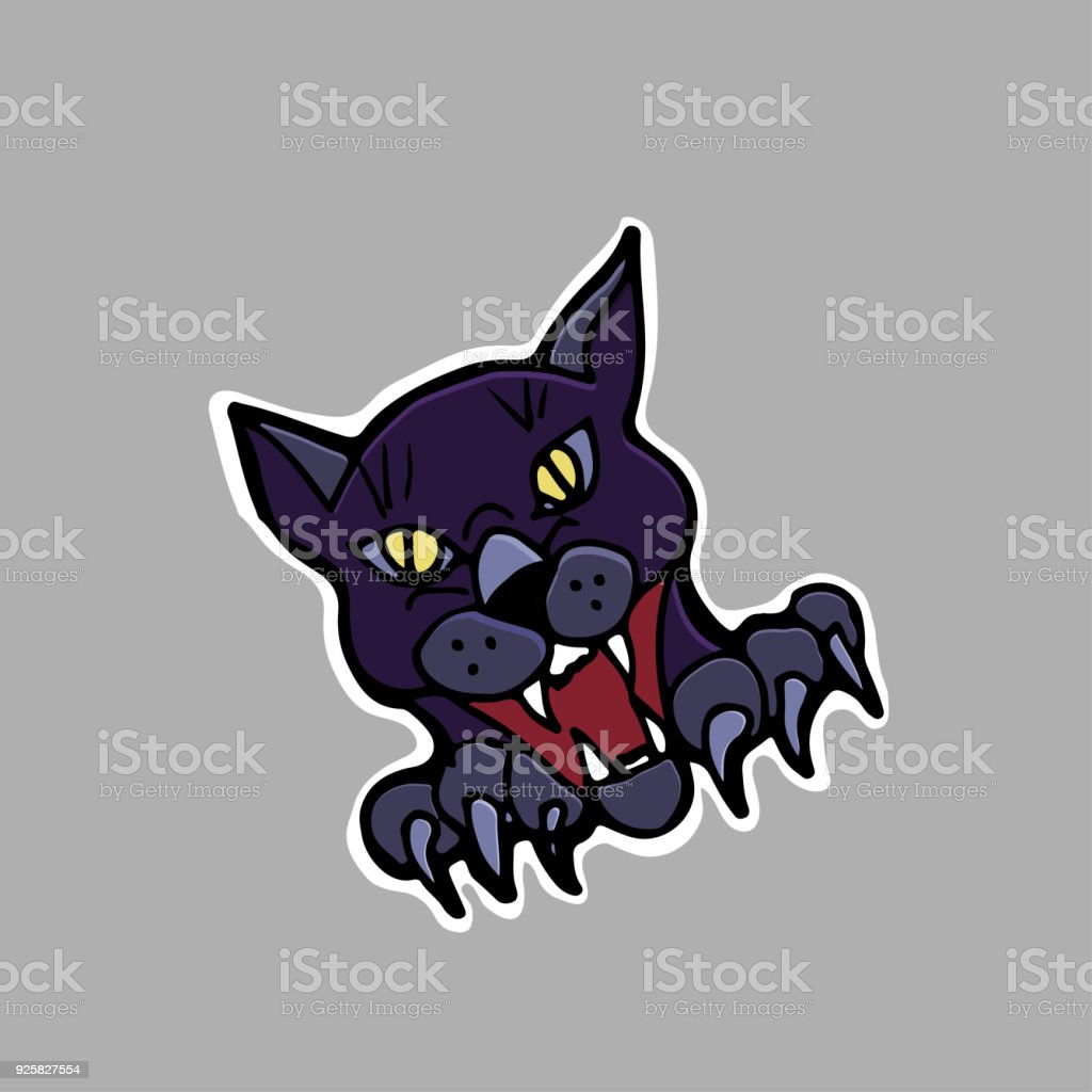 Black Cat Sticker Patch