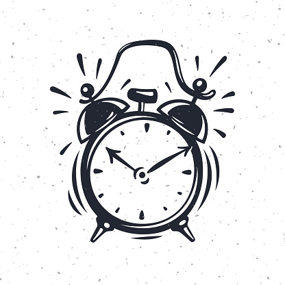 Hand Drawn Vector Illustration Of The Alarm Clock Stock Illustration - Download Image Now