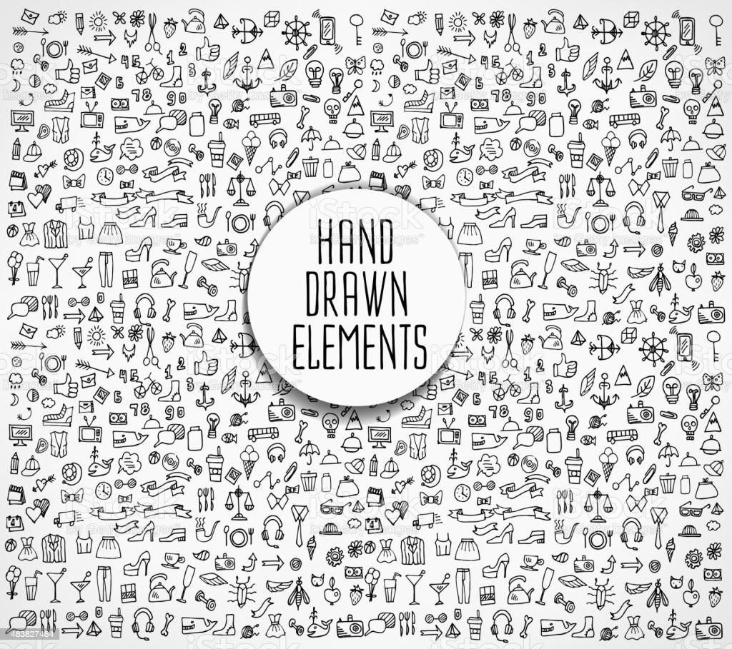 Hand drawn vector illustration vector art illustration