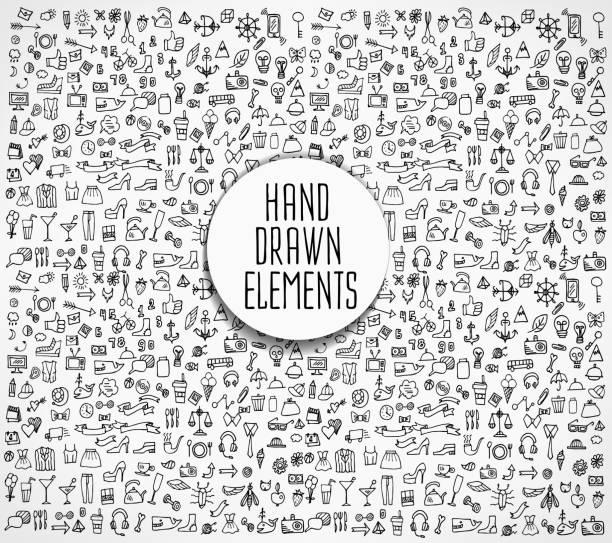 hand drawn vector illustration - doodles stock illustrations, clip art, cartoons, & icons