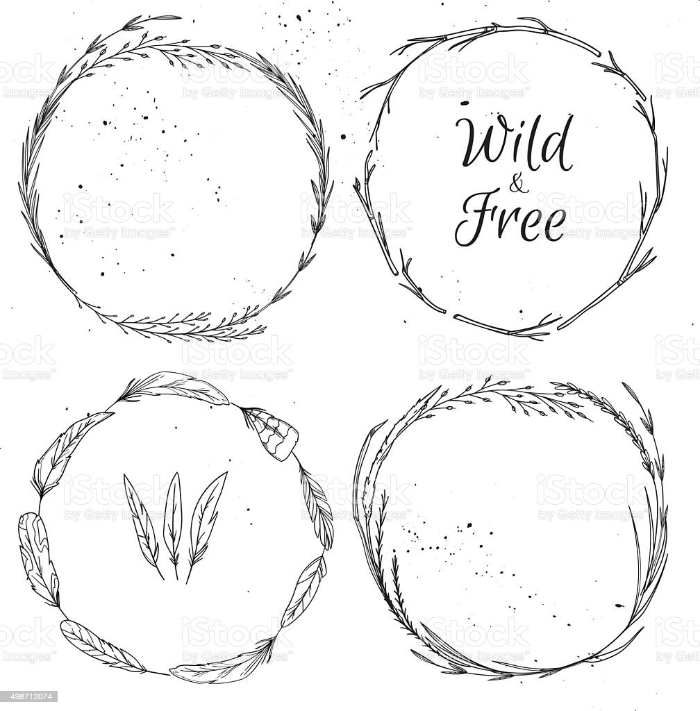 Hand drawn vector illustration.  Vintage decorative collection. vector art illustration
