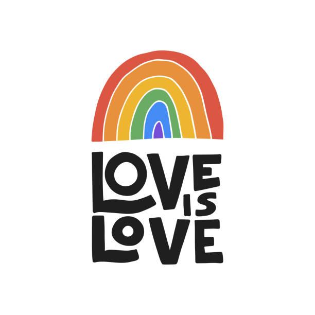 ilustrações, clipart, desenhos animados e ícones de letras vetoriais desenhadas à mão. ilustração do dia do orgulho. conceito lgbt - lgbt