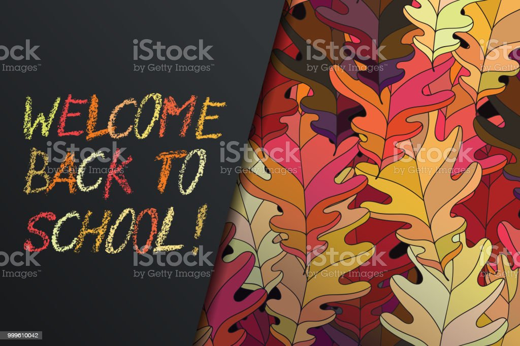 Hand drawn vector lettering words welcome back to school by hand in words welcome back to school by hand in crayon style with m4hsunfo