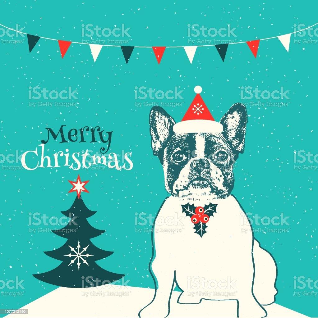 French bulldog personnalisé Carte de Noël
