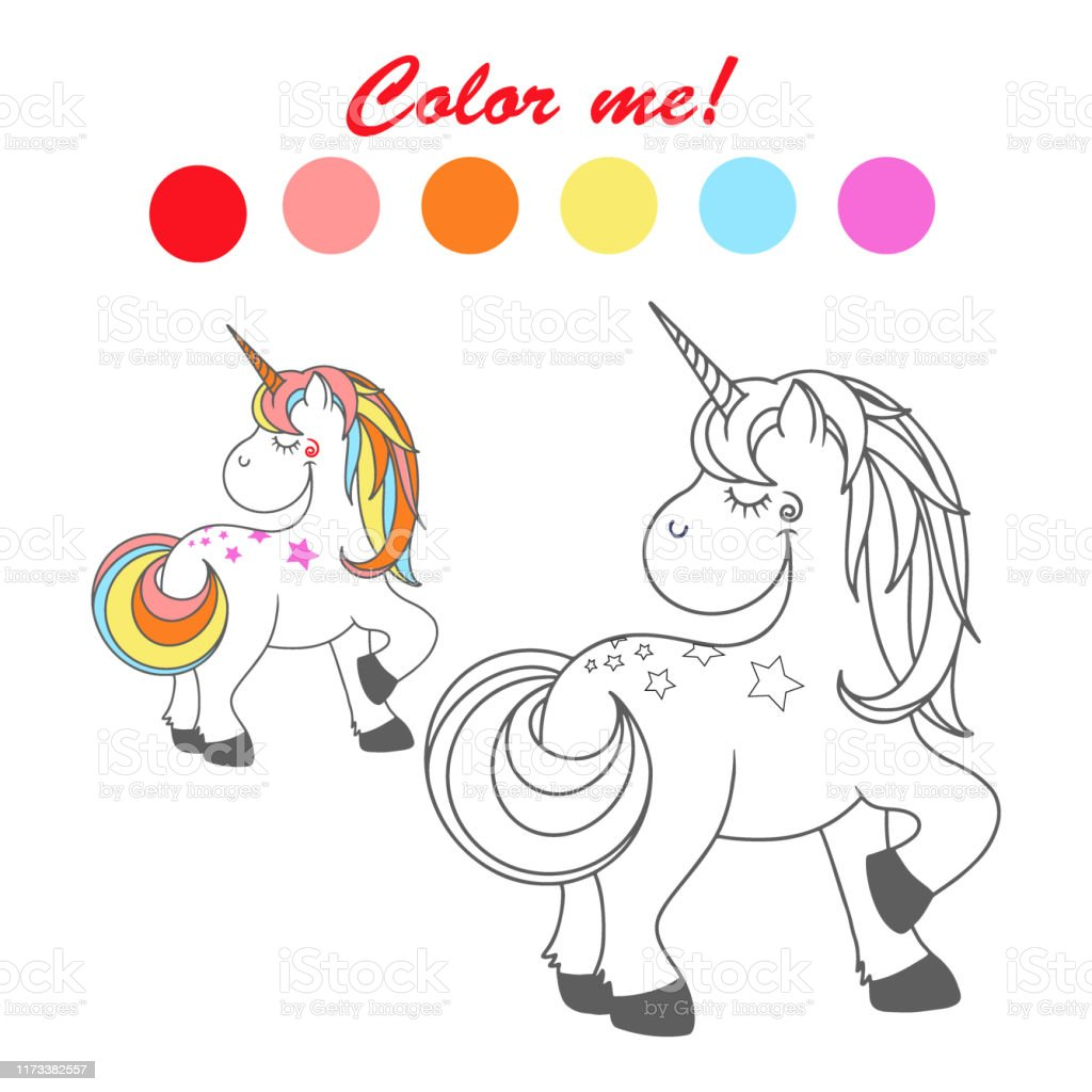 A Beautiful Collection of Magical Unicorns Drawings for Hours of Fun! Unicorn Coloring Book for Kids and Adults Pocket Size Mini Edition
