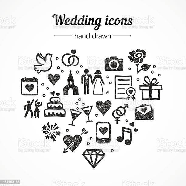 Hand drawn vector set wedding icons marriage rings couple love vector id481463166?b=1&k=6&m=481463166&s=612x612&h=3xhhicvuo2c0ipbkhducyhxji1vncaqvd p2ys8d y8=