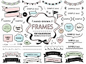 Hand drawn vector sketch set of speech bubbles  / mono line design templates / for doodle, comic, design, banner, icon etc /  isolated on white background.