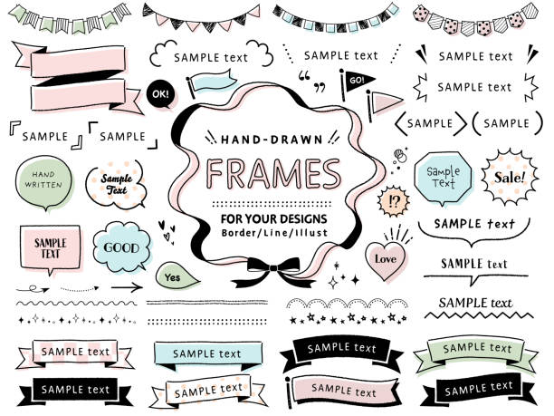 Hand drawn vector sketch set of speech bubbles  / mono line design templates / for doodle, comic, design, banner, icon etc /  isolated on white background. Hand drawn vector sketch set of speech bubbles  / mono line design templates / for doodle, comic, design, banner, icon etc /  isolated on white background. ribbon sewing item stock illustrations