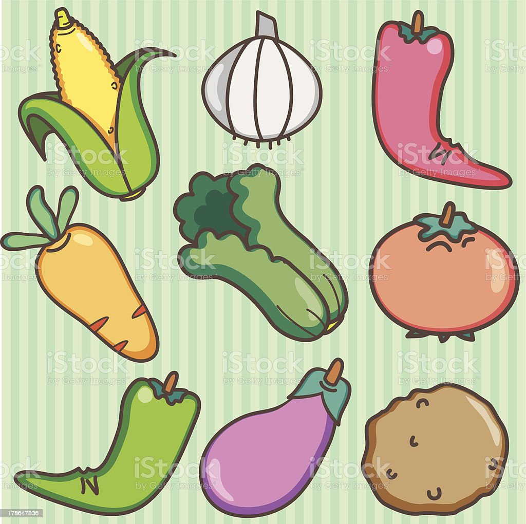 hand drawn vegetables set royalty-free hand drawn vegetables set stock vector art & more images of backgrounds