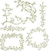 Hand drawn vine elements