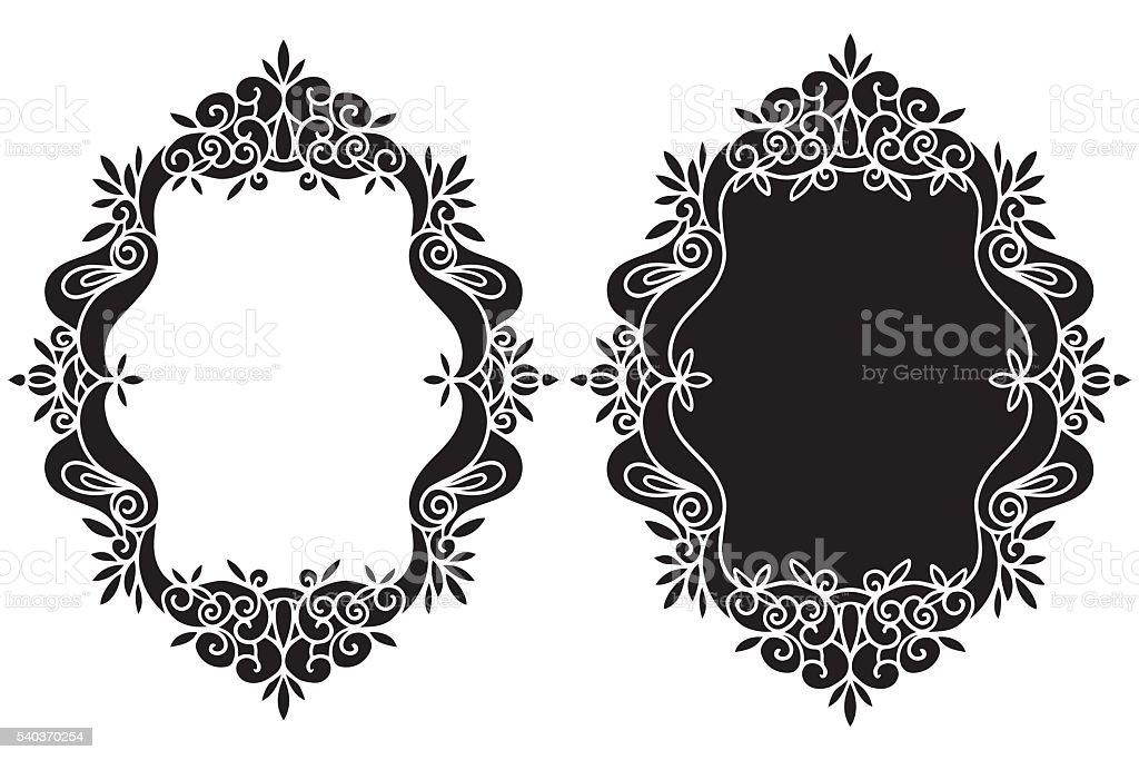 Hand Drawn Vintage Black Frames Set Stock Vector Art & More Images ...