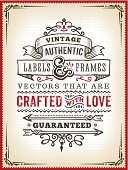 A hand drawn vintage poster template. EPS 10 file, no transparencies, layered & grouped,