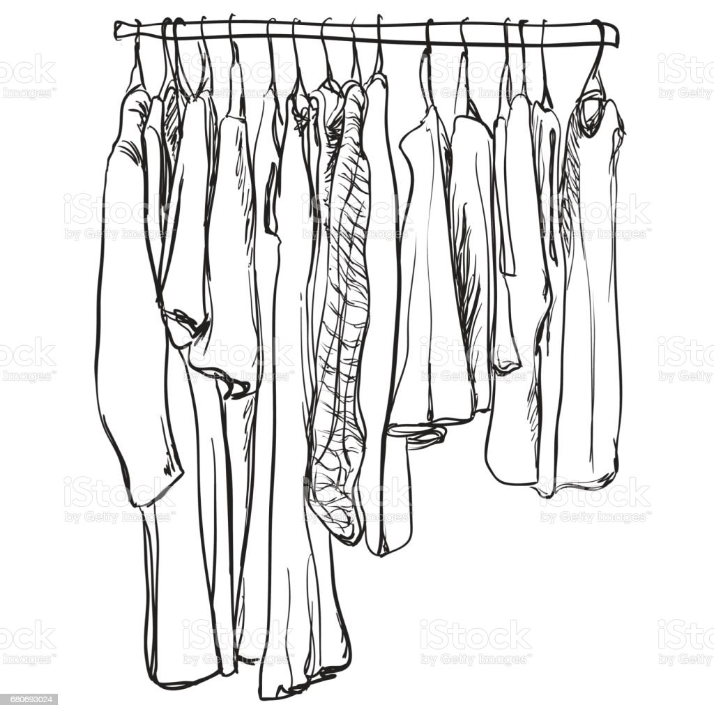 Wardrobe clipart black and white  Royalty Free Sketched Mens Wardrobe Clip Art, Vector Images ...